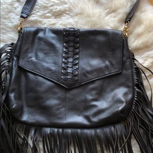 Dina Eva Fringe Leather Handbag
